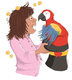 illustration from Popcorn and Parrots by Brenda Kearns