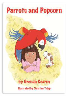 cover of Parrots and Popcorn by Brenda Kearns
